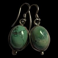 Stunning Sterling Silver Turquoise Dangle Earring