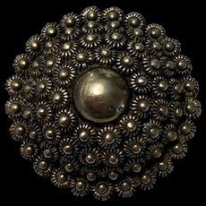 Vintage Filigree Sterling Silver Flower Pendant/Brooch