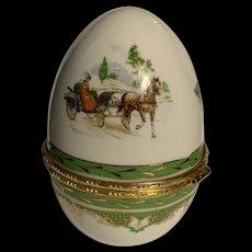 Vintage Limoges Porcelain Egg Trinket Box