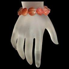 Vintage Genuine Agate Stretch Bracelet