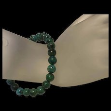 Antique Turquoise Beads Stretch Bracelet