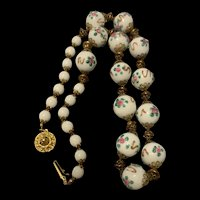 Antique 1920's  Italian Venetian Wedding Cake Bead Necklace