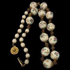 Antique 1920's  Italian Venetian Wedding Cake Bead Necklace