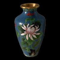 Vintage Chinese Export Cloisonné Flower Vase