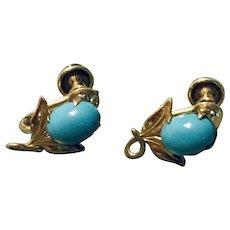 Gorgeous 1/20 12K Gold Gilled Sleepy Beauty Earrings