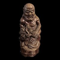 Antique Chinese Bamboo Root Carving Immortal