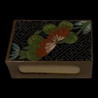 Antique Chinese Cloisonné Enamel Match Safe