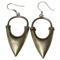 Antique Silver Large Statement Dangling Earrings