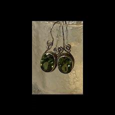 Period Sterling Silver Long Drop Earrings Modernist Fine
