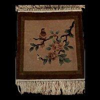 Handmade Vintage Chinese Silk Mat/Rug/Wall Hanging