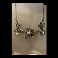 Gorgeous 1940's 14Kt Gilt Silver Pearl Pendant Necklace With Fully Hallmarks