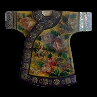 Gorgeous Amia Hand Enamel Painted Glass Suncatcher With Chinese Traditional Clothes Design