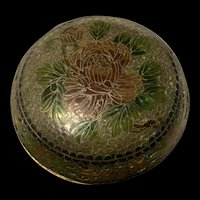 Exquisite Antique Chinese Plique a Jour Cloisonné Glass Enamel Bowl With Lid