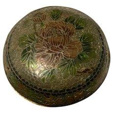 Exquisite Antique Chinese Plique a Jour Cloisonné Glass Enamel Bowl With Lid