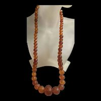 Gorgeous Vintage Baltic Graduated Amber Faceted Beads Necklace