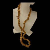 Amazing Vintage Baltic Butterscotch Chunky Amber Beads Necklace