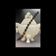 Art Deco Sterling Baltic Honey Amber Bracelet