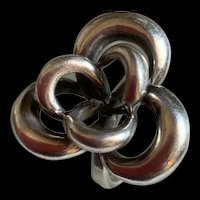 Gorgeous Sterling Israel Flower Statement Ring