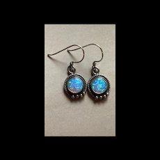 Gorgeous Sterling Silver Flashy Genuine Opal Drop Earrings
