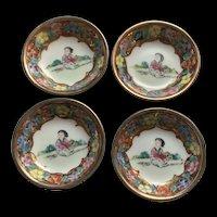 Fabulous Vintage Rose Medallion Chinese Export Porcelain Dishes