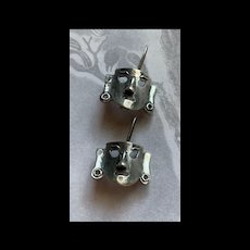 Fabulous Vintage Sterling Silver Drama Mask Drop Earrings