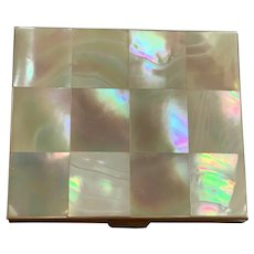 Gorgeous Vintage Mother Of Pearl Compact