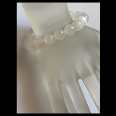 Fabulous Vintage Natural Moonstone Beads Stretch Bracelet