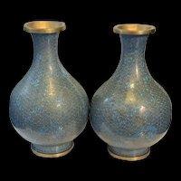 A Pair Of Antique Chinese Cloisonné Vase