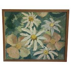 Fine Art Vintage Beautiful Floral On Canvas Oil Painting