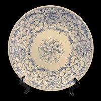 Fine Chinese 18th Chinese Jiaqing Blue And White Plate