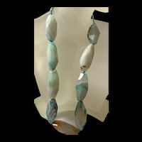 Gorgeous Vintage Chunky Banded Agate Bead Necklace