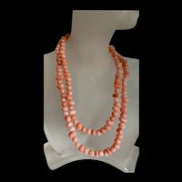 Gorgeous Vintage Natural Angle Skin Beads 31 Inches Length Necklace