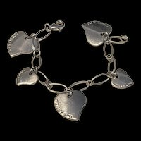 Tiffany & Co Classic Heart Tag Charm Bracelet In Sterling Silver
