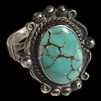 Exquisite Navajo Sterling Turquoise Vintage Old Pawn Native American Signature