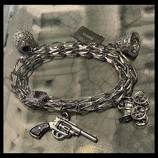 Gorgeous Vintage Sterling Silver Charm Bracelet