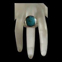 Stunning Vintage Sterling Berber Turquoise Ring