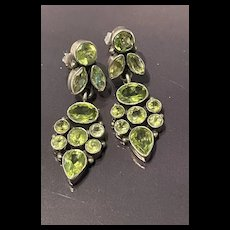 Gorgeous Vintage Sterling Silver Natural Peridot