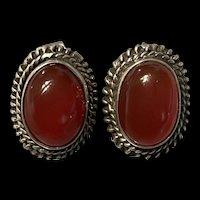 An amazing Vintage Carnelian Sterling Silver Earrings