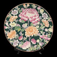 Spectacular Vintage Large Chinese Famille Rose Hand Painted Decorative Platter