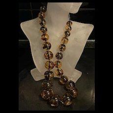 Rare Gorgeous Large Baltic Honey Amber Graduated Beads Necklace