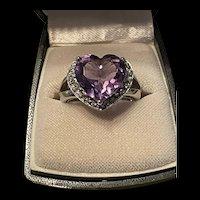 Gorgeous Vintage Sterling Amethyst Sterling  Ring