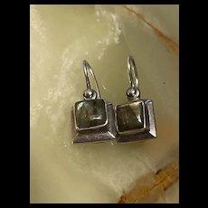 Stunning Sterling Labradorite Square Sharped Drop Earrings