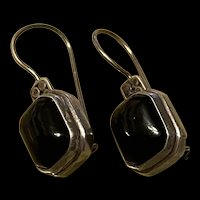 Stunning FNA Vintage Black Onyx Sterling Drop Earrings