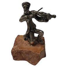 Stunning ISRAEL Sterling Silver Fiddler Sculpture