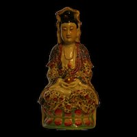 Lovely 1940s to 60s hand painted vintage Guan Yin figurine
