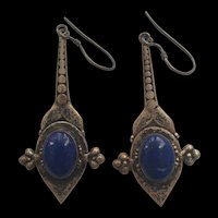 1970's Silver and Lapiz lazuli earrings