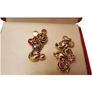 Mickey and Minnie Mouse Pins by Napier for Disney