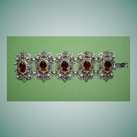 Ornate Renaissance Style Bracelet with Faux Seed Pearls