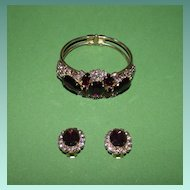 Fabulous  Purple Clamper Bracelet Set