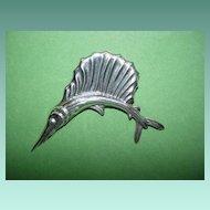 Vintage Mexican Swordfish Pin
